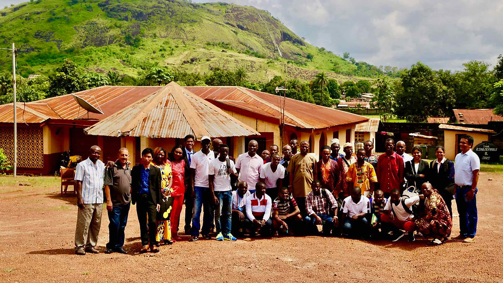 Sunbird bioenergy Sustainability Team Visits Rural Village in Sierra Leone