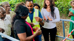 Opening of New Footbridge: Enable Local Village Children to Get to School
