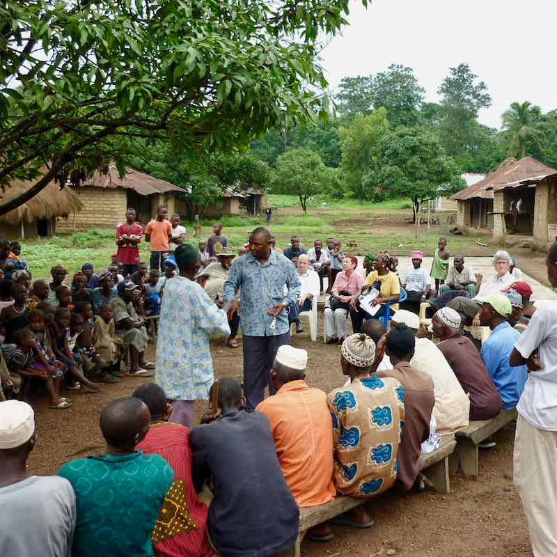 Sunbird Bioenergy's farmer out-reach meeting in Sierra Leone