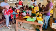 Distribution of School Materiels Supplied by Sunbird