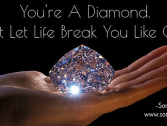 You're A Diamond. Use Your Strength To Resist