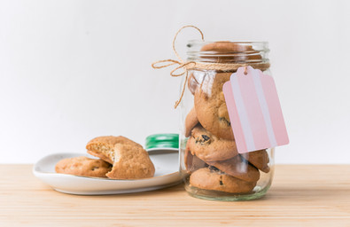 Frasco de galletas