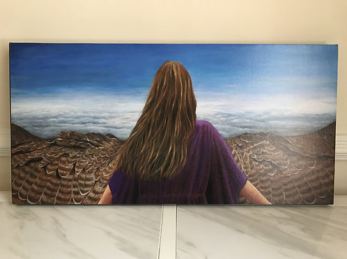 """""""Eagle's Wings"""" Canvas Print, 15x30"""