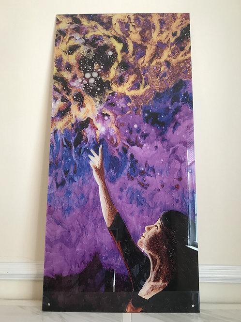 """Reaching"" Oversized Acrylic Glass Print, 50x24"