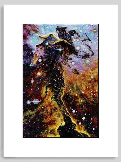 Eagle Nebula: Wings and Light (Stellar Spire) Matted Art Print