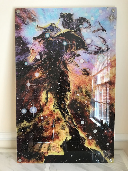 """Eagle Nebula"" Oversized Acrylic Glass Print, 30x47"