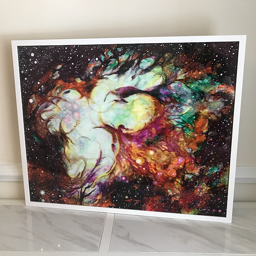 """Spirit Work"" Original Acrylic Glass Piece (Experimental) - 24x30"