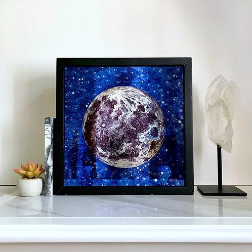 """Reflecting Greater Light"" Original Moon Mirror"