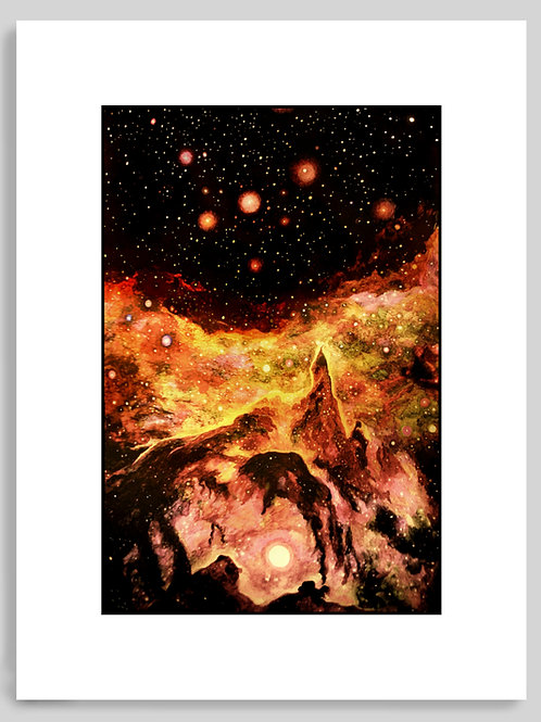 """Golden Nebula"" Art Print"