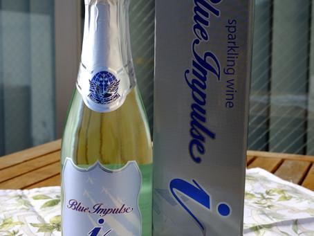 スカイブルーのスパークリングワインプレゼント♥