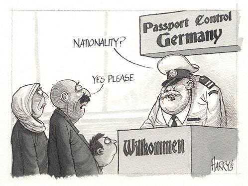 """PASSPORT CONTROL"" Print"