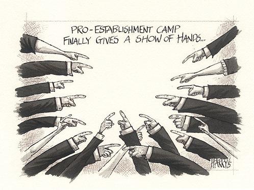 """SHOW OF HANDS"" Print"