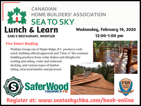 Fire Smart Roofing hosted by Watkins Group, Maple Ridge