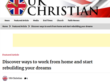 My book is featured in an article in UK Christian News