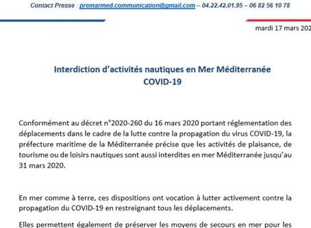 Communiqué de presse de la préfecture de la méditerranée