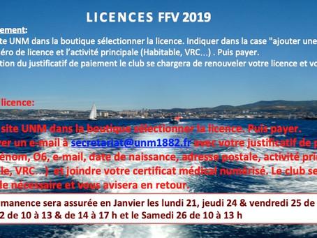 FFV LICENCES 2019