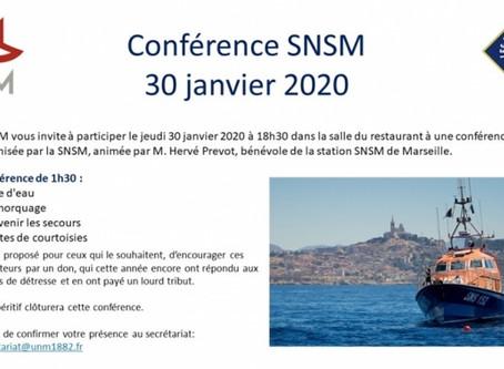 Conférence SNSM - Jeudi 30 janvier 2020