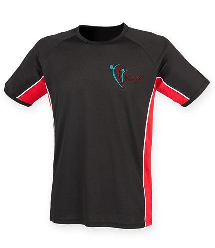 Upstarts Gymnastics Coach Performance T-shirt