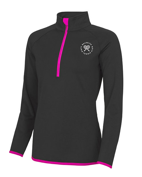 DLTC Ladies 1/2 Zip Sweatshirt