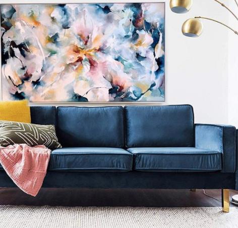 Kate Clarkson Blue Sofa