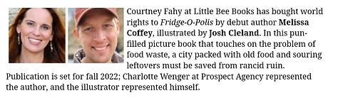 Melissa Coffey FRIDGE-O-POLIS PW Announc