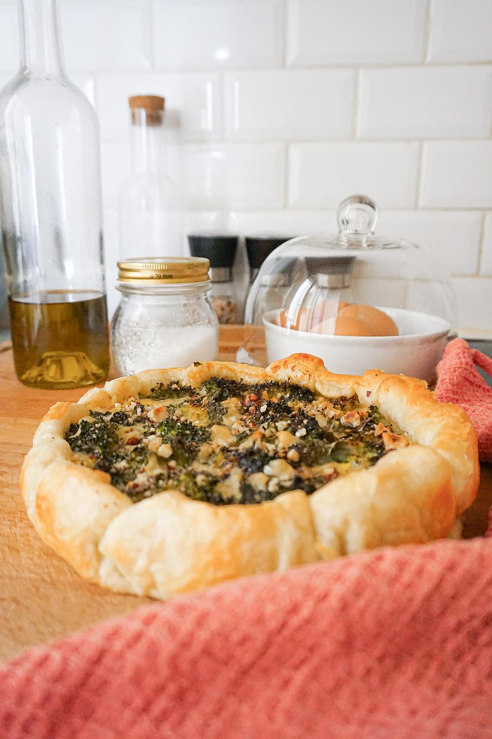 Ma quiche brocoli, parmesan & noisettes !