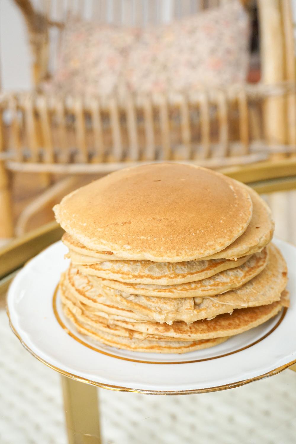 Mes healthy banana pancakes