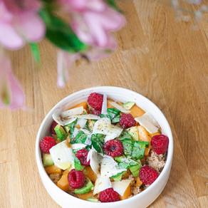 Mon bowl d'été melon, framboises & avocat