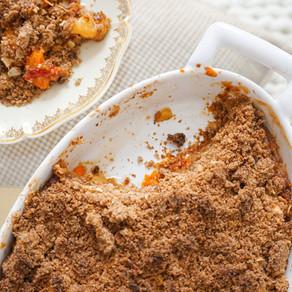 Mon crumble pêches abricots healthy & vegan