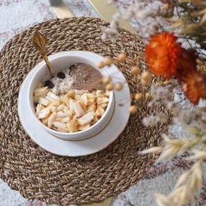 Mon porridge choco-poire