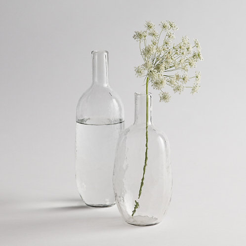 Pebbled Glass Bottle