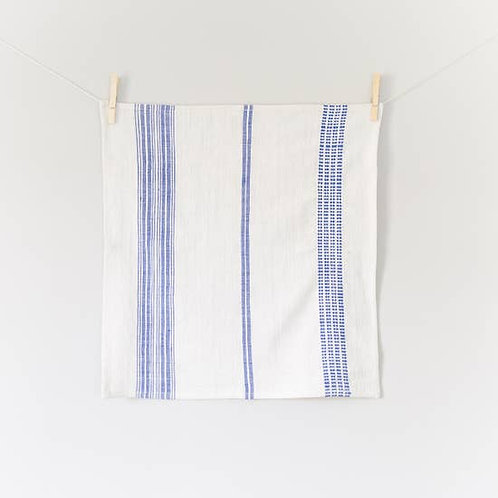 Aden Napkin- Natural and Blue