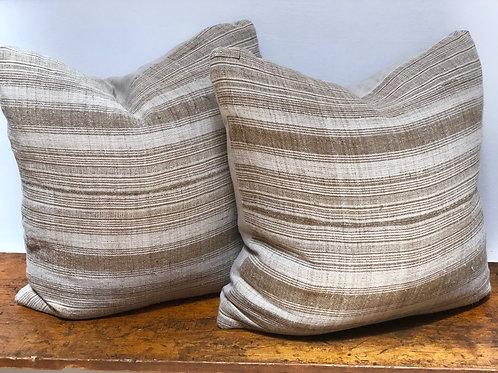 Tibetan Striped Linen Pillow