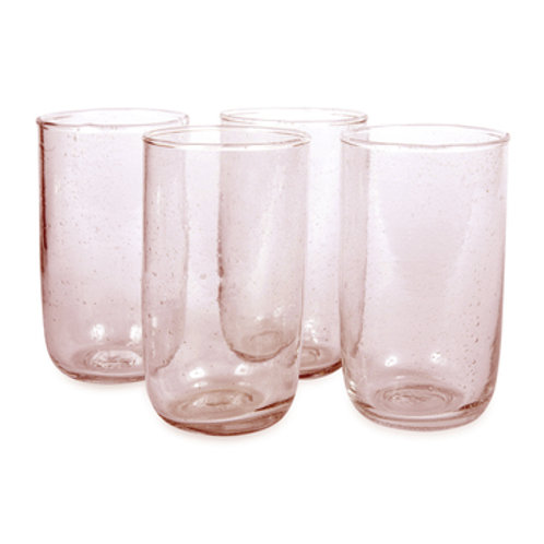 Pale Rose Seeded Glasses 16oz