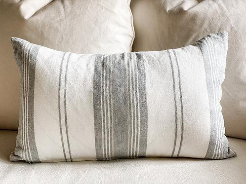 Laguna 24x15 Pillow- White & Gray #82