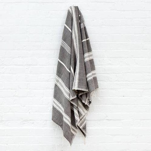 Aden Bath Towel- Grey and Natural