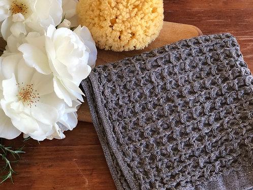 Kontex Lattice Wash Cloth-Brown