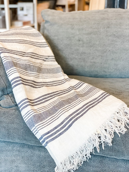 Belgian Linen Throw- Malibu