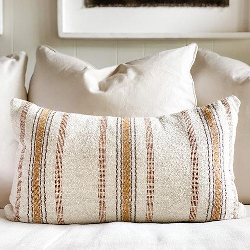 Justin Pillow Natural & Orange 24x15