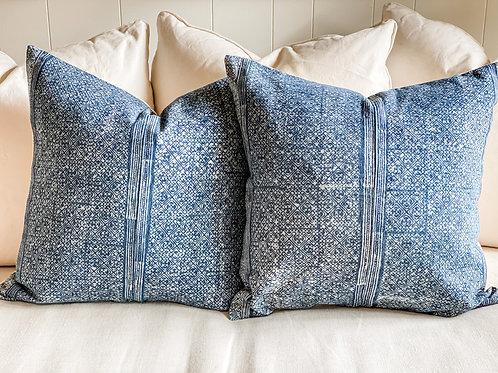 Hmong Batik Indigo Pillow 22x22 w insert