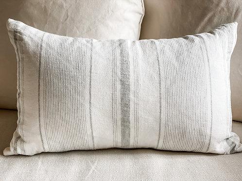 Newport Pillow 24x15 White & Light Grey #80