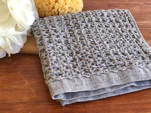Kontex Lattice Wash Cloth- Grey