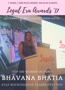 Bhavana set to host the Legal Era Awards In New Delhi on 8th December.