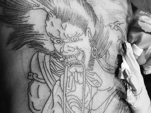 Backpiece detail  #fujin #horihide