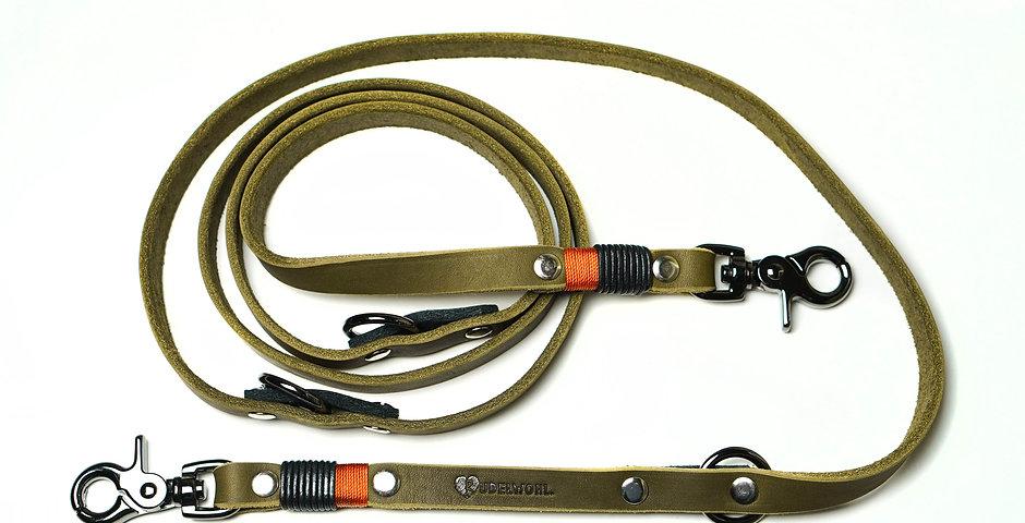 Lederleine 2-fach verstellbar - mit Takelung