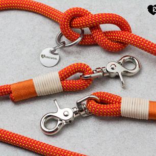 Tauwerk: Fireball, Takelung: Standard Orange & Leder Natur