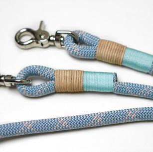 Tauwerk: Pastell Blau, Takelung: Standard Babyblau & Leder Natur