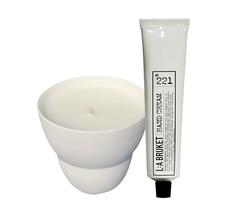 Soy Scented Candle +L:A Bruket Hand Cream