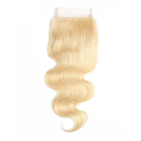 5*5 Platinum Blonde Lace Closure