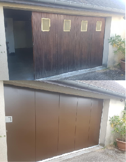 porte de  garage  lateral   motif  lisse